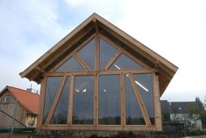 Backhaus mit Isolierglasscheiben