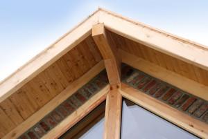 Dachüberstand aus Laerchenholz